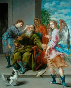 Antonio Pereda y Salgado 'Tobias Restoring his Father's Sight', 1652 ©The Bowes Museum