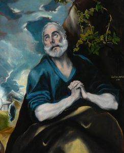 Domenikos Theotokopoulos, El Greco. 'The Tears of St Peter', 1580-89 © The Bowes Museum